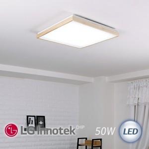 LED 로뎅 정사각 방등 50W (원목/블랙)