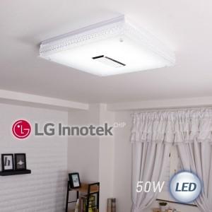 LED 히트 정사각 방등 50W (화이트)