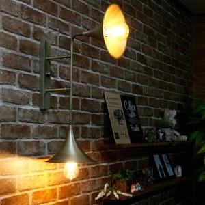 트럼펫 2등 벽등 (신주브론즈) (실내에서 상향/하향으로 설치 가능)