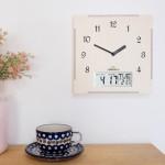 Calender Clock 캘린더벽시계(요일,날짜,온도)