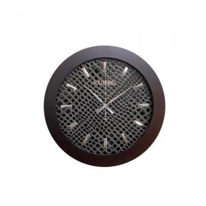 GB4934 무소음 가죽 벽시계 40cm 브라운 블랙