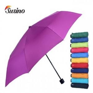 SUSINO 3단55*8 폰지나무손잡이우산