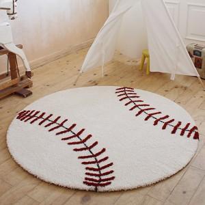PD017 야구공 자녀방 러그/카페트 원형150cm(Camel)