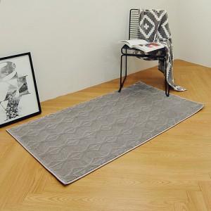 스노우 터키산 10mm 디자인카페트 MA2389-3481(80x150cm)다크그레이/침실러그/침대/사계절