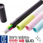 육각지우개연필3p바닐라원통케이스