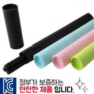 흑목지우개연필3p바닐라원통케이스
