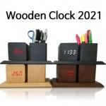 [필통시계2021] 우드시계필통, 필통시계, 우드필통시계
