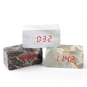 [탁상시계] LED 마블탁상시계/마블직각시계/대리석시계
