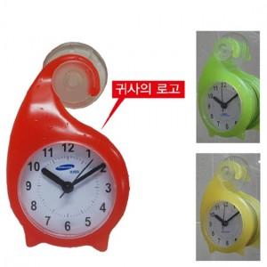 (탁상겸욕실)달팽이욕실시계-흡착