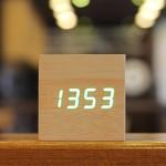 LED 나무시계 탁상시계 정사각형(큐브)