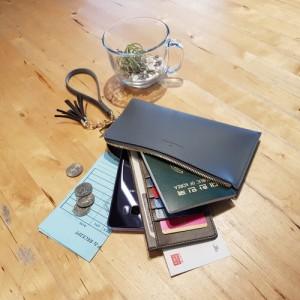 간지스 레트로 파우치휴대 들고다니기 편한 지갑 슬림 넉넉한수납 파우치 다용도 고급기프트 선물 단체 기념품 판촉쇼핑몰 판촉