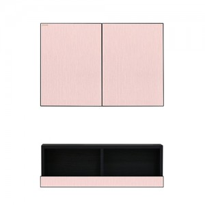핑크 빗살무늬 상하단장 (상단 600*400) (하단 600*200)