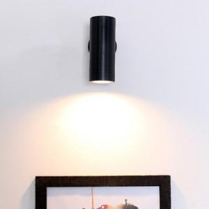 LED 베스 블랙 1등 벽등 3W (램프포함/전구섹)