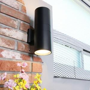 원통 2등 외부벽등 [LED겸용/E26]
