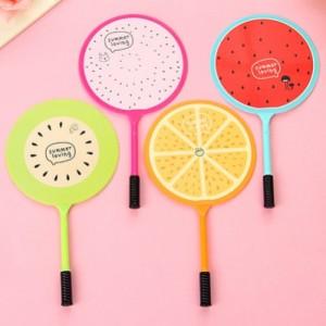 과일 부채 볼펜 (청색심)귀여운 이쁜 예쁜 학생선물 학원홍보 학교행사 학교축제 여름판촉물 초저가