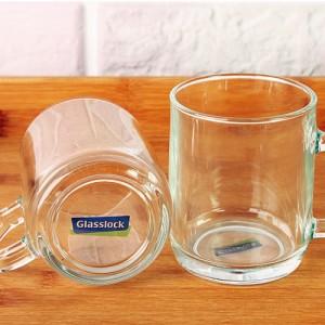글라스락 순수유리컵유리머그컵 튼튼한 투명 국산 실용적인 깨끗한 깔끔한 원하는문구 원하는로고 인쇄가능 스티커무료