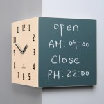 Blackboard Corner Clock