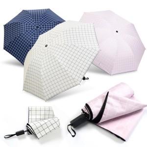 모던체크 기능성 양우산 우산 리버설
