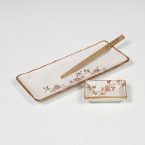 [접시세트] 백야화 핑크 생선접시 2P세트