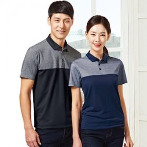 2단 배색 PK 티셔츠