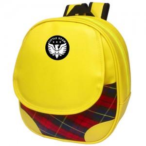 체크배낭어린이집가방 유치원가방 원생가방 학원가방 귀여운 노랑색