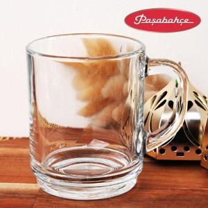 파사바체 강화 유리컵튼튼한 투명한 손잡이머그 글라스머그 커피 쥬스잔