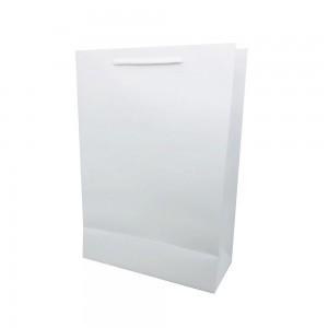 [종이가방] 아트지 무지 쇼핑백 화이트 (롱특대)심플한 탄탄한 보석함 예물케이스 긴상자 종이백 종이쇼핑백