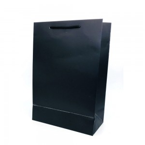 [종이가방] 아트지 무지 쇼핑백 블랙 (롱특대)긴상자 예물케이스 보석함 심플한 종이케이스
