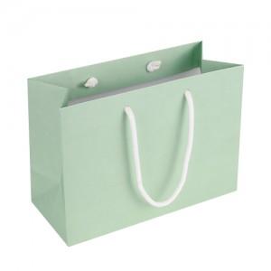 [종이가방] 230×100×165mm_린넨지 쇼핑백 230g민트색 예쁜쇼핑백 종이쇼핑백 업소용
