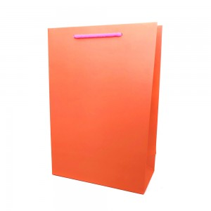[종이가방] 아트지 무지 쇼핑백 오렌지 (롱특대)큰사이즈 옷가게 업소용 로고인쇄