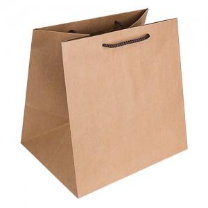 300×230×300mm 쇼핑백 (6종)크라프트쇼핑백 종이백 튼튼한 도시락쇼핑백 무지 베이지색 무지