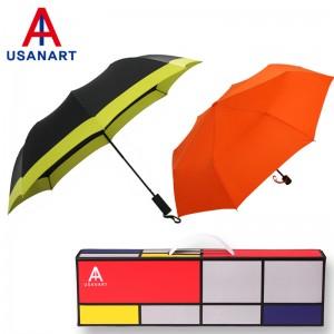 우산아트 2단폰지보다+3단폰지칼라 우산세트