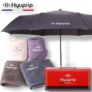 협립 3단 심플 수동 우산+호텔코마수건 1P세트
