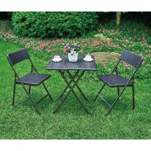 브로몰딩 접이식 테이블의자세트 (접이식테이블 1개, 접이식의자 2개) RYC-019