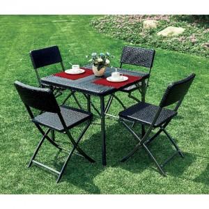 브로몰딩 접이식 테이블의자세트 (접이식테이블 1개, 접이식의자 4개) WYC-020