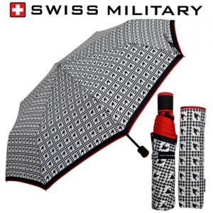 스위스밀리터리 3단수동 하운드체크 우산