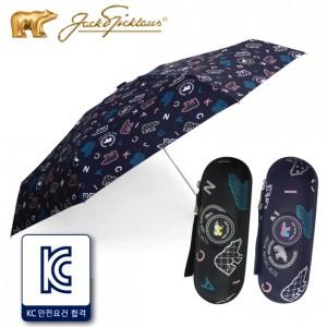 잭니클라우스 5단 알파벳 패치몰드 우산