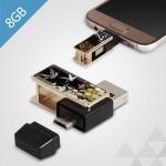 제이메타 T30 골드 자개 마이크로5핀 OTG 8GB usb
