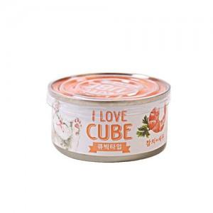 뉴웨이브캔 C 참치새우 큐브 80g 고양이가격:1,500원
