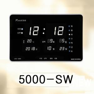 5000-SW/ 온도, 음력표시, 자동밝기보정, 화이트led