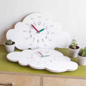구름 교육용 무소음 벽시계