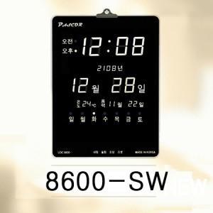 8600-SW/화이트LED 온도표시 음력표시