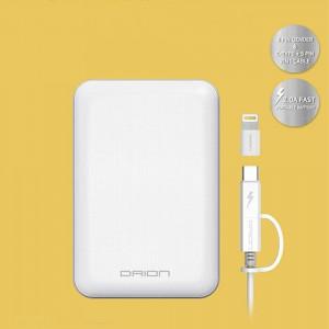 드리온 보조배터리 10000mAh대용량 usb2포트 5핀 + c타입 포트 스마트폰 태블릿 전자기기충전