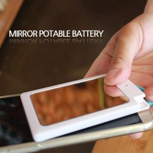 거울형,흡착형 보조배터리실속형 미니손거울 휴대용 슬림보조배터리 마이크로5핀