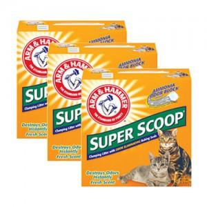 슈퍼스쿠프 클럼핑 리터 센티드 고양이모래 (후레쉬향) 6.35kg X 3ea가격:60,000원