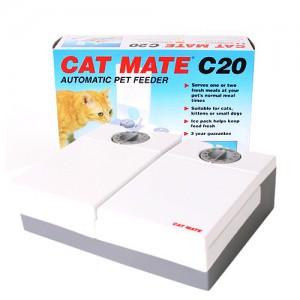 캣메이트 강아지 고양이 자동급식기 2구 (C20) 아이스팩 세트