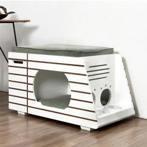 화이트 원목하우스 강아지 고양이 TD-H02(쿠션 포함)가격:498,000원