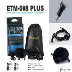ETM-008 플러스 (3극 단일지향성마이크)액션캠,디지털보이스레코더,노트북,DSLR 카메라,고프로 히어로2,히어로3,인터뷰녹음녹화,프리젠테이션 녹음
