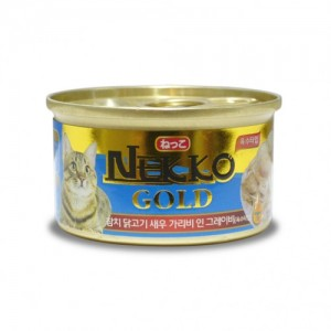 네코 골드 참치&닭&새우&가리비 고양이캔 85g가격:1,500원