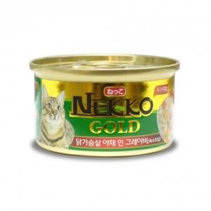 네코 골드 닭가슴살&야채 고양이캔 85g가격:1,500원